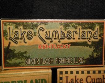 Lake Cumberland lake house fishing decor nostalgic fishing lure boxes 4YourLake