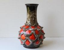 Mid Century Modern German Pottery Vase, Walter Gerhards, Kera Keramik