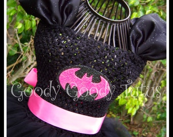 I'M BATGIRL Tutu Dress in Hot Pink