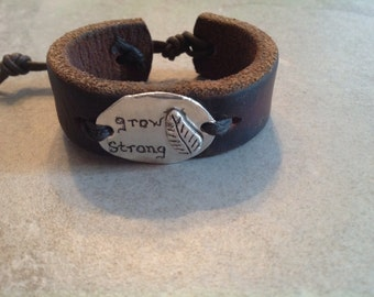 Silver PMC Grow Strong Bracelet