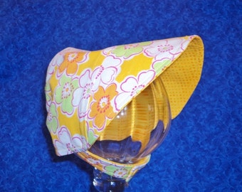 Reversible Baby Bonnet with Chin Straps