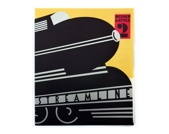 """Seymour Chwast """"Design & Style"""" Issue 2 (Streamline). From Seymour Chwast's personal archive."""