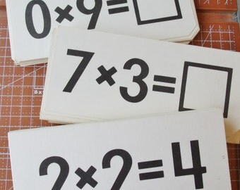 20 Vintage Multiplication Flash Cards 1978