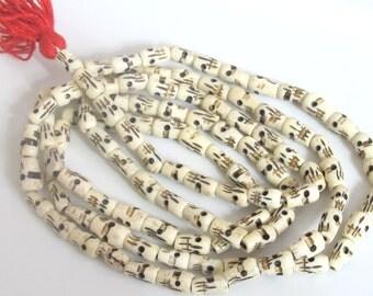 Tibetan 108 skull mala bone beads supply  - 108  beads - ML017