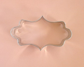 Small Fancy Frame Plaque Cookie Cutter