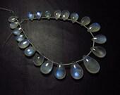 AAA - Amazing - Ceylon Srilanka - Rainbow Moonstone - Smooth Pear Briolett Blue Moon Flashy Fire  size -  5x8 - 9x15 mm - 21 pcs