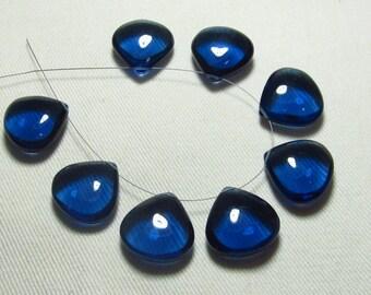 Brand New - 4 Matched Pairs - London Blue Colour Quartz -Smooth Heart Shape Briolettes amazing Gorgeous colour Huge Size 18x18 mm