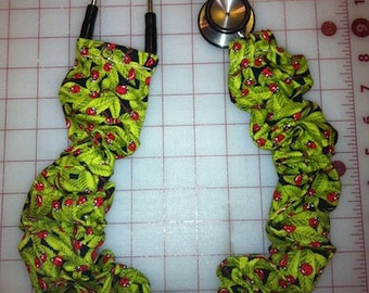 Lady Bugs on Leaves Stethoscope Cover