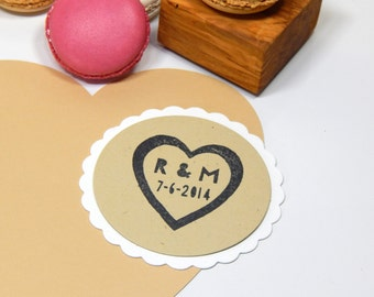 Custom Big Love Olive Wood Stamp