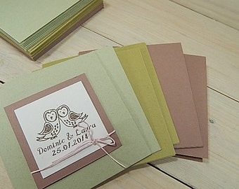 10 x Quality Folded Card Blanks Using Natural Raw Material By-Products 3 Colour Choices