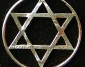 Star of David Hand Cut Coin Jewelry