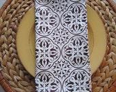 Scrolls - Handmade Cloth Casual Dinner Napkins 20x20 (set of 8) - JD Designs