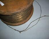 antique dark gold tiny cord french 1900s