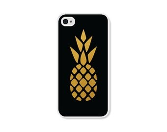 iPhone 5 Case Pineapple iPhone 5c Case Black and Gold Pineapple iPhone 4 Case Pineapple iPhone 6 Case Pineapple iPhone 6 Plus Case Gold