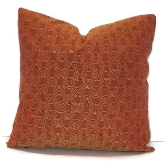 Decorative Pillow Cover 18 X 18 Burnt Orange/Rust