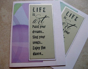 life is art blank cards