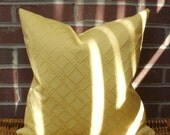 Decorative Pillow Cover: Matelasse Upholstery 18 X 18 Accent Throw Pillow Cover in Yellow