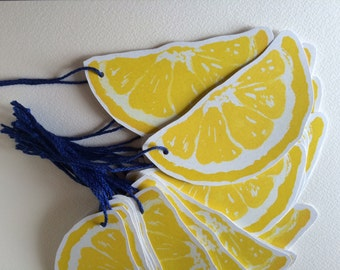 Lemon Slice - Paper Cutouts - Escort Cards, place cards, guest book, wishing tree, well wishes, decoration, advice cards