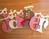 Wood Letters Set of 6-SIX INCH Letters -Choice of Font - set of 6 - Nursery Decor