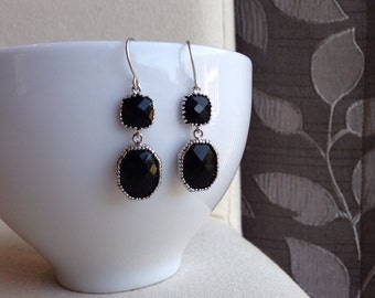 Beautiful in Black Earrings - gift, mother, wife, sister, daughter, friend, romantic, bridesmaid, birthday, formal, special occasion