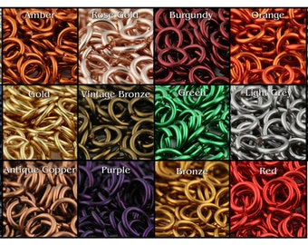 JUMP RINGS - 16-Gauge AWG 4mm Enameled Copper Jump Rings - 1 Ounce - Pick your color!