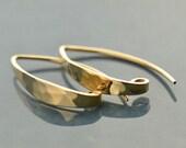 Natural Bronze Hook Earwires 1 Pair -  Earrings, Findings