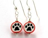 Paw Print Earrings Dog Cat Animal Lovers