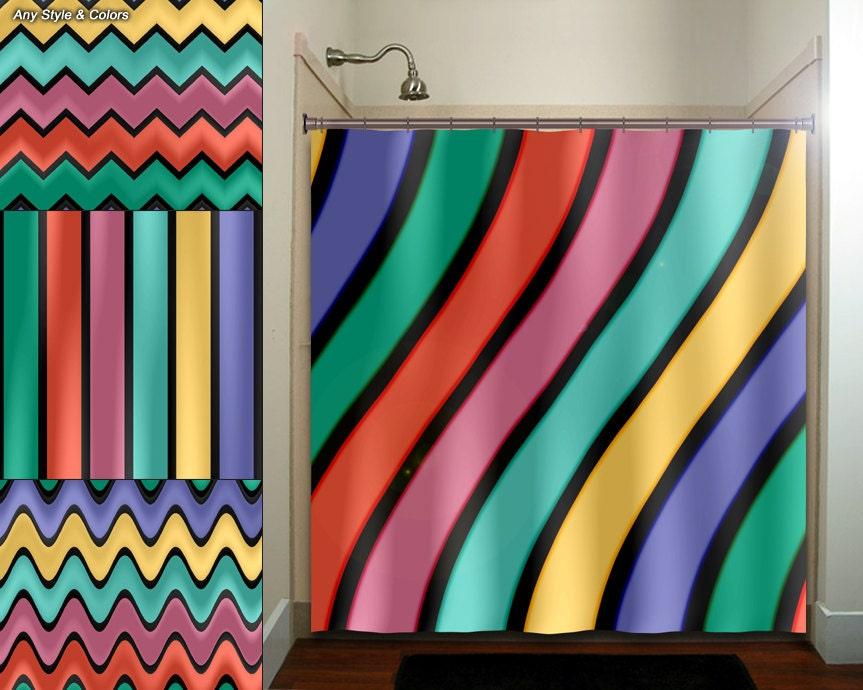 Chevron striped curtains