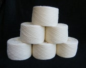 Natural white lace weight wool yarn for lace knitting or Haapsalu shawl knitting, measure 2/28, 300 grams