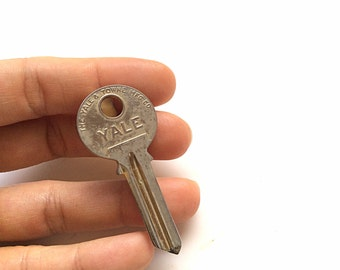 CLEARANCE vintage Hickok Yale Key  tie bar advertisement accessory Made in USA