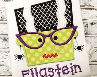 Bride of Frankenstein Head applique embroidery design
