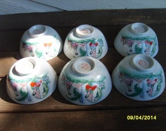 Rice Bowls. Chinese Bowls, Ceramic Bowls, Chinese Rice Bowls, Restaurant Ware, FS Louie Co, Vintage Chinese Rice Bowls, Porcelain Rice Bowls