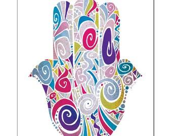 Palm of Promise (Hamsa) IV Fine Art Print