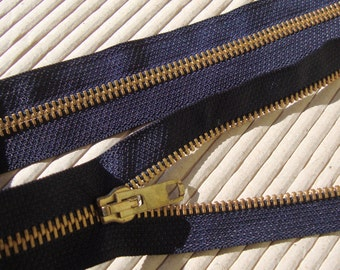 "Three 19"" Long  Black Cotton Separating Zipper Metal Zipper Sewing Supplies Notions Fashion Design ST"