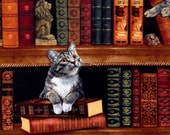 Cats in the Library - Timeless Treasures - 1 yard - More on Order - BTY