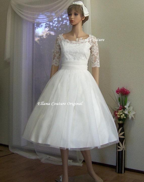 Leila - Vintage Inspired Wedding Dress. Beautiful Retro Style Bridal Gown.