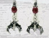 Spooky Bat Earrings Gothic Jewelry Halloween Earrings Bat Jewelry Halloween Earrings / Vampire / Gothic