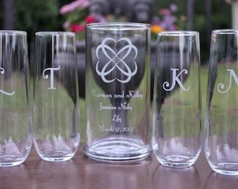 Blended Family Five Piece Sand Ceremony Set, Personalized Sand Ceremony Set, Engraved Sand Ceremony Set, Wedding Sand Set, Wedding Keepsake