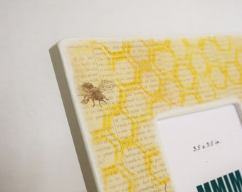 Honeycomb Picture Frame - Honey Bee Yellow Photo Frame