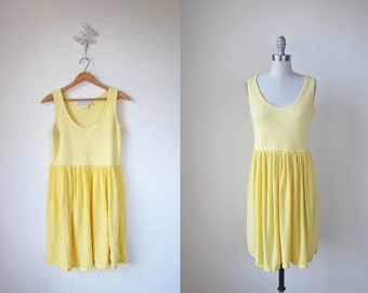 Vintage Yellow Dress | Sleeveless | Caged Canary