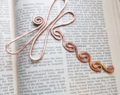 Copper dragonfly bookmark