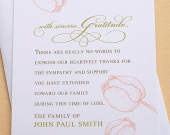 Sympathy Thank You Cards Personalized | California Map