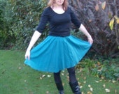 Green Cotton Circle Skirt