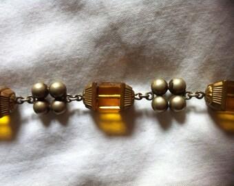Sale Vintage 30s Deco Czech Glass Necklace