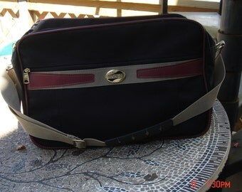 Vintage American Tourister Canvas Carry on/ Weekender Bag - Nice