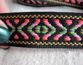X and OVAL tribal patterned belting on BLACK