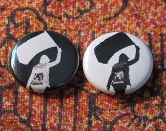 Black Flag 1 inch pinback Button