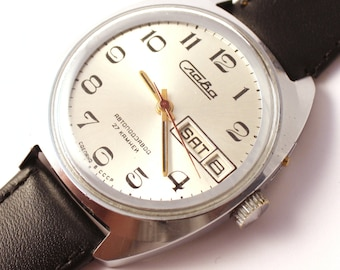 Vintage watch Slava, mens watch, huge watch