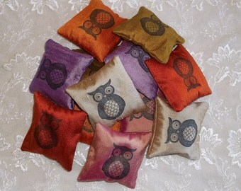 Silk Lavender Sachet- Owl Design