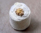 Contemporary Crochet Toilet Paper Cover, Fiber Art, Bathroom Home Decor